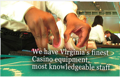 Premier Events has the finest casino equipment in Virginia